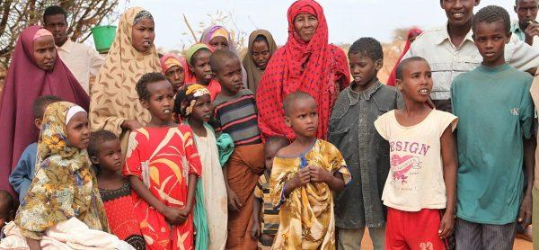 Uchodźcy w obozie w Dadaab w Kenii