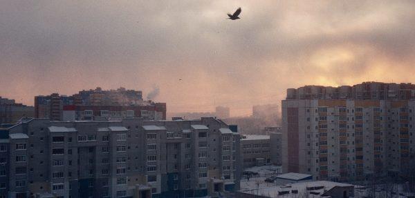 Miasto Surgut w zachodniej Syberii