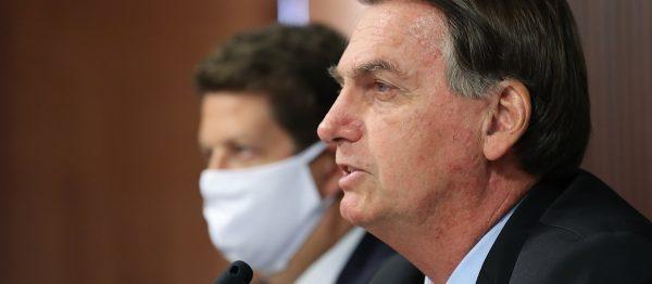 Jair Bolsonaro podczas szczytu klimatycznego