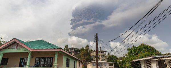 Wybuch wulkanu La Soufriere