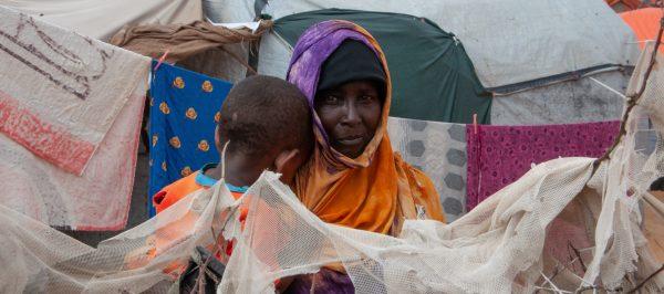 Uchodźcy w obozie w Somalii