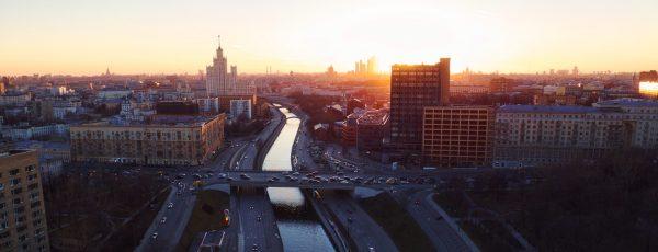 Widok lotniczy na Moskwę